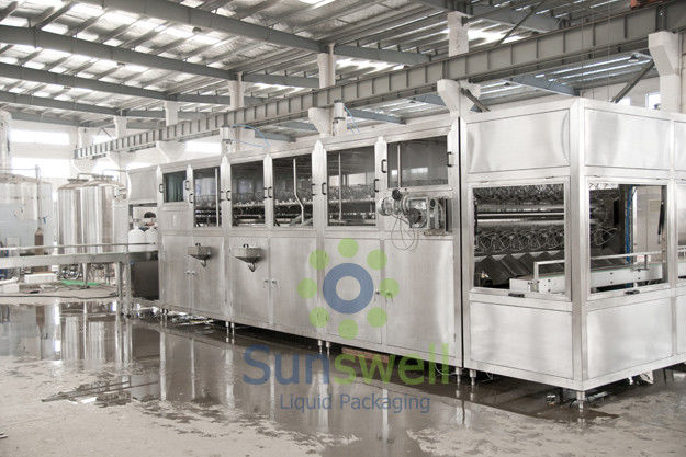 Stainless Steel 5 Gallon Water Filling Machine , 2000BPH - 3000BPH Water Jar Production Line