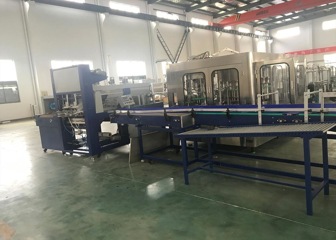 Thermal Shrink Packaging Equipment With Tray Or Pad For Brewery Water Factory
