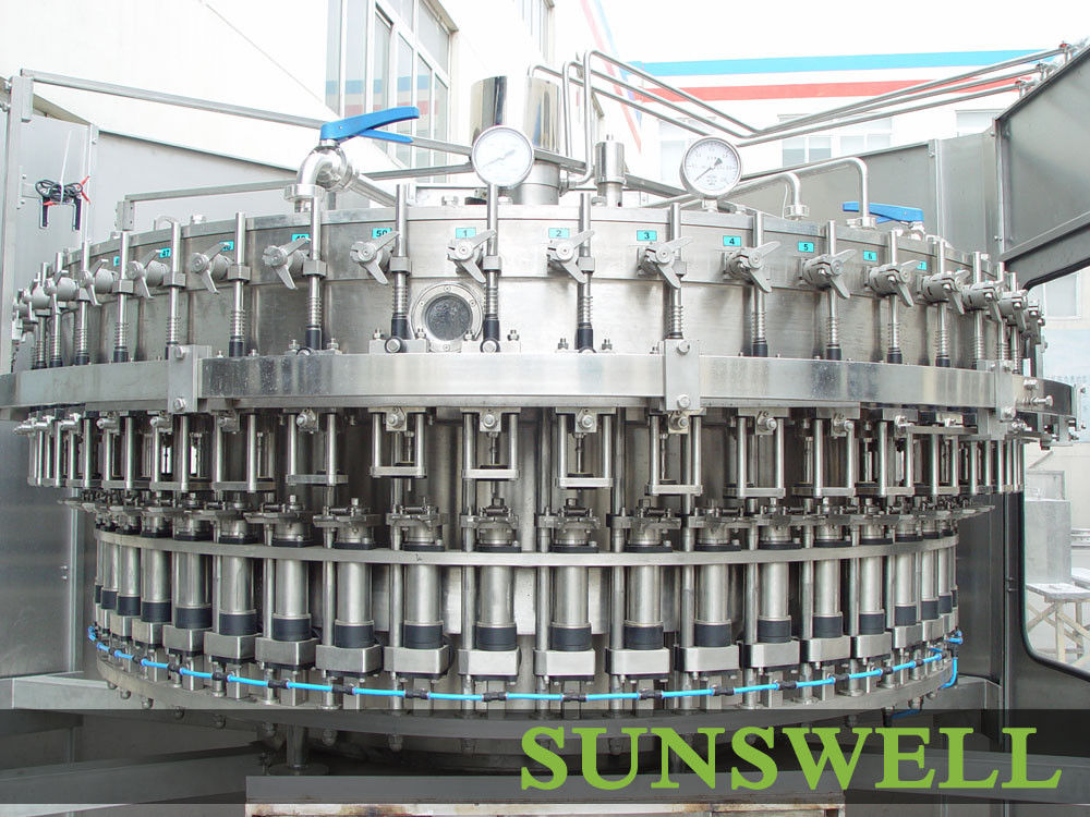 3 In 1 Full Automatic Carbonated Filling Machine For Drinking PET Bottles