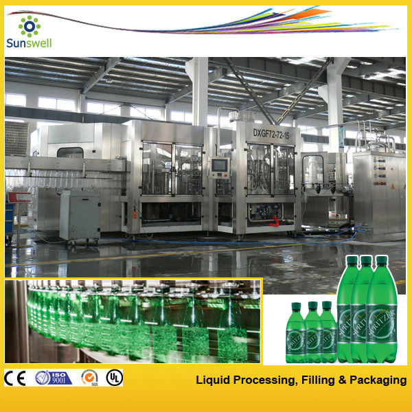 Soft Drink Carbonated Filling Machine , Line PET Bottle Glass Bottle